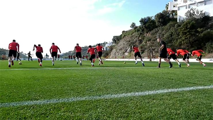 El Manchester United en San Pedro Alcántara